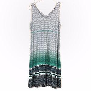 athleta Santorini ombre printed scoop dress M